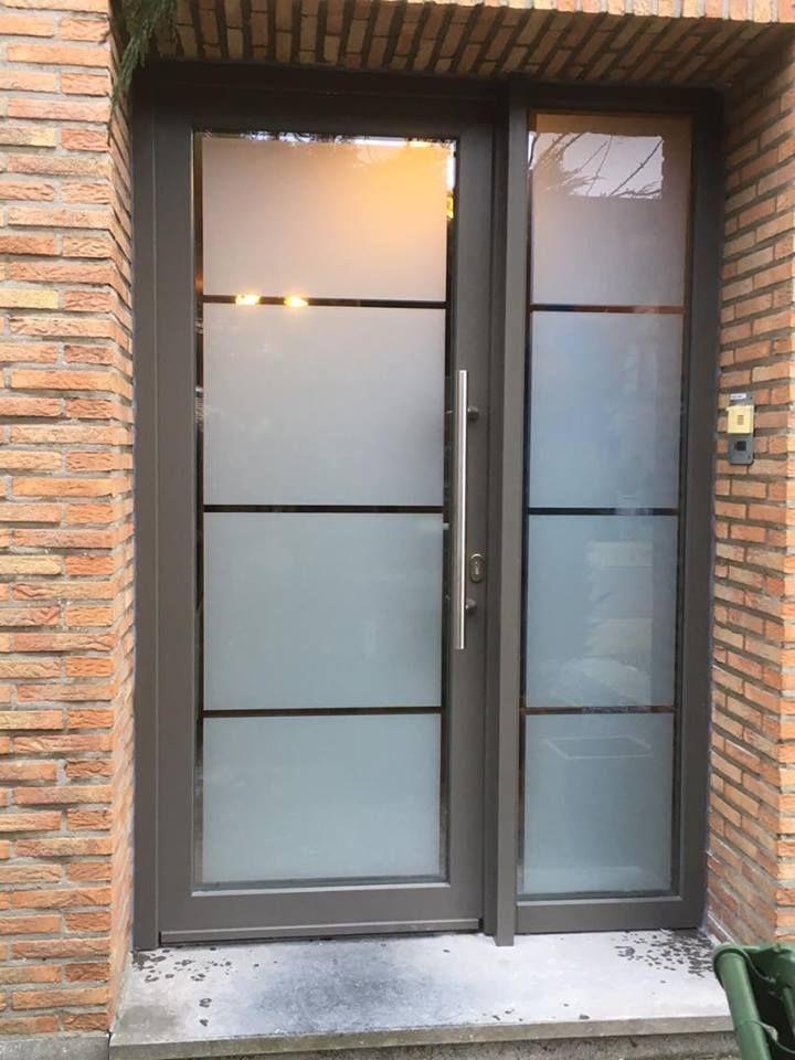 Euro Window Essen Project Pvc Voordeur Deur Glas Grijs 4 Deur Glas Voordeur Ramen En Deuren
