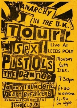 Sex Pistols, The Damned, Johnny Thunders and The Heart breakers, The Clash