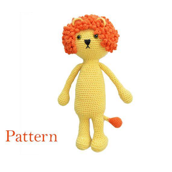 Cute Crochet Amigurumi Lion Pattern  DIY Soft Toy by roamingpixies