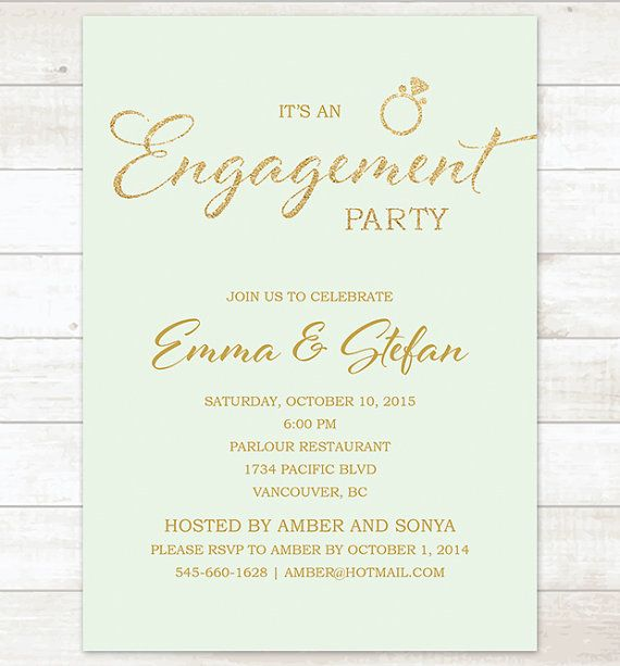 10 best Engagement Party Invitations images on Pinterest - engagement party invites templates