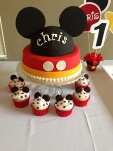 Leelees Cake-abilities: Minnie and Mickey birthday party  CY's niece birthday party ideas.