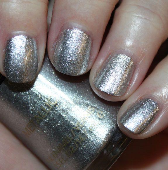 revlon silver dollar nail polish (metallic!!)