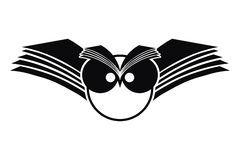 Logotipo da silhueta da coruja Fotografia de Stock Royalty Free