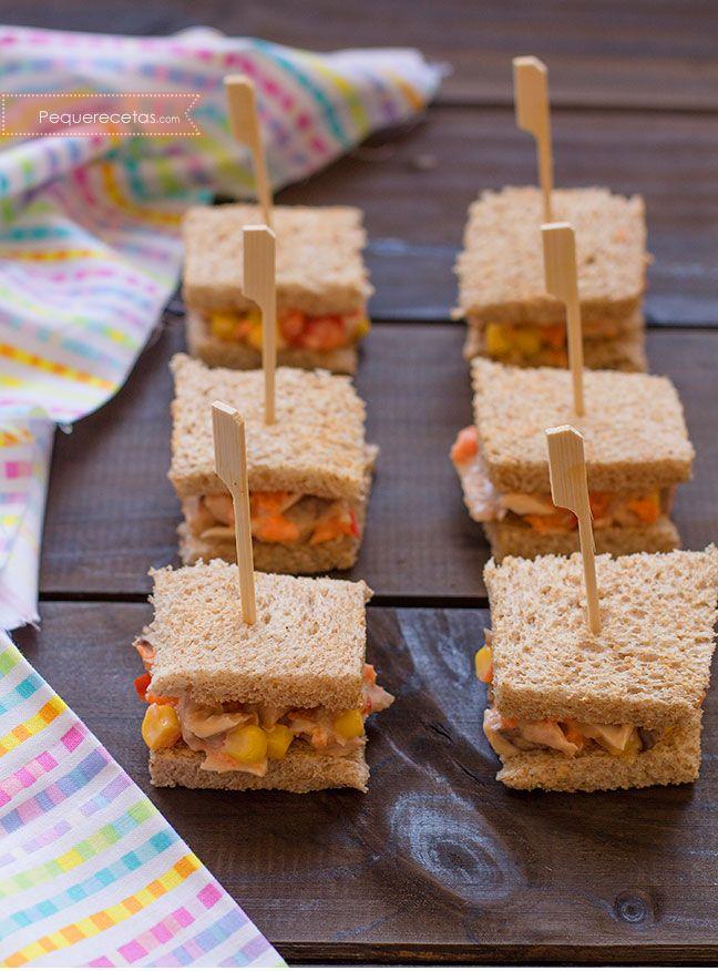 Mini sándwich de pollo, ¡una cena rápida!