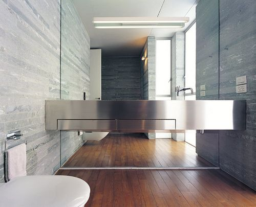 Love the feel of this Contemporary bathroom