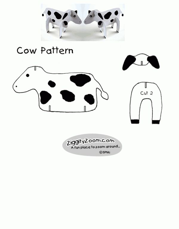 Cardboard Cow Crafting- AWESOME!