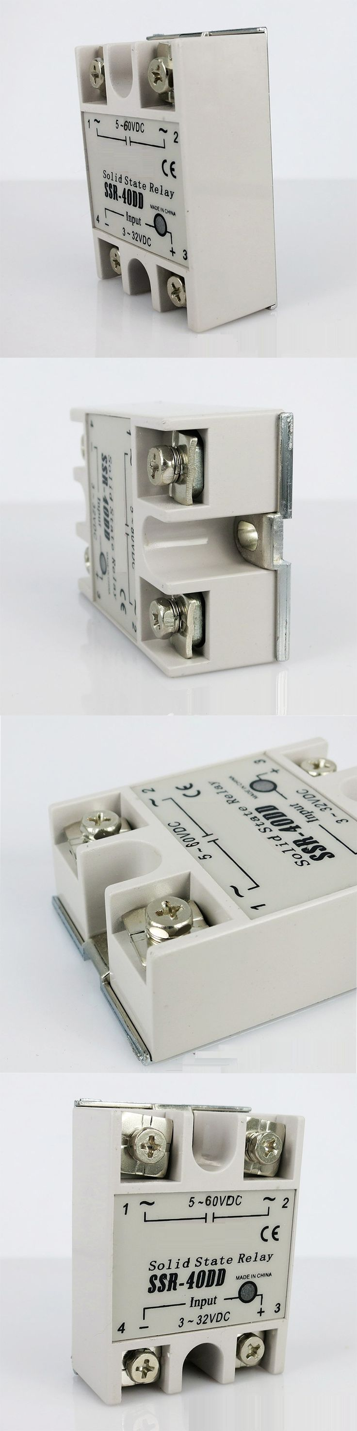 SSR 40DD Single Phase Solid State Relay  actually 3-32 DC TO 5-60 DC 40A DC Control DC