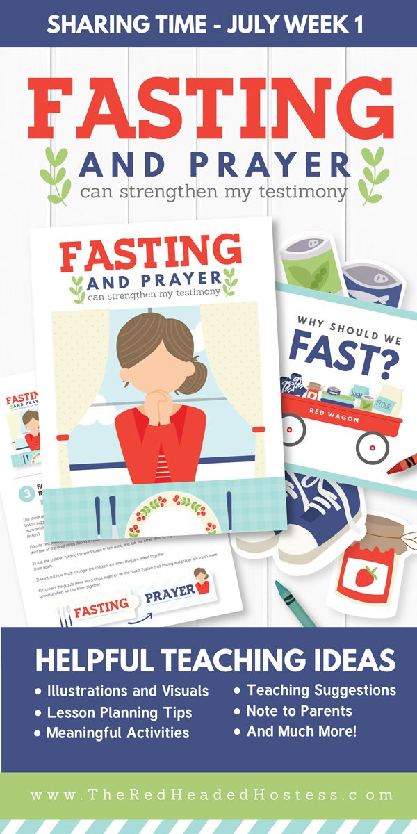 Primary Sharing Time - Fasting and Prayer Can Strengthen My Testimony (July Week 1) - Primary games, teaching ideas, and more!