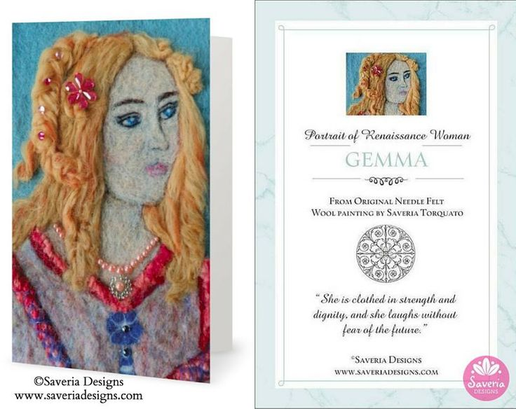 Gemma Renaissance Card with Inspirational Quote Insert. Inspiring thoughts to empower women.