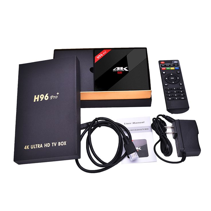 H96 Pro+ Android 7.1.1 TV Box Amlogic S912 Octa Core 2GHz DDR3 3G+32G Smart Television Set Top Box 4K Media Player WIFI BT4.1 #Affiliate