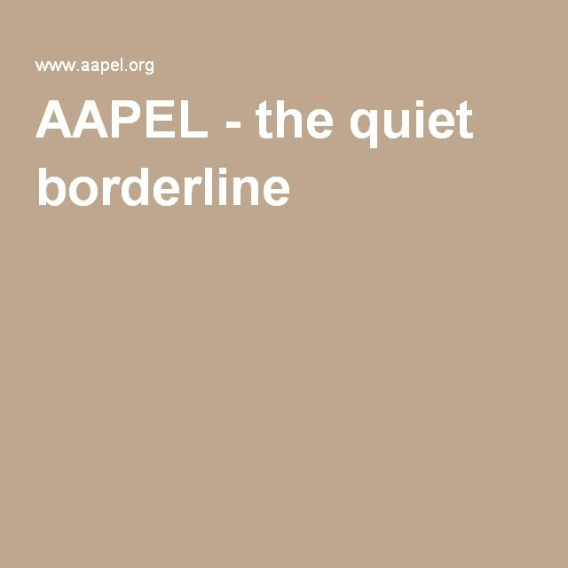 AAPEL - the quiet borderline