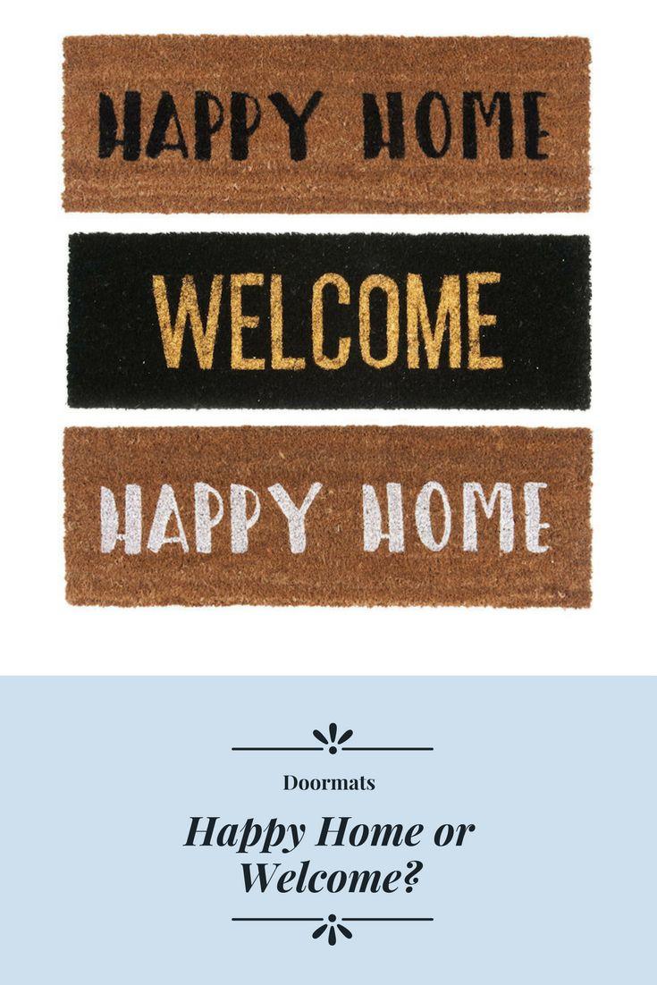 Welcome of Happy Home? Met deze nieuwe kokosmatten is het leuk thuiskomen! #deurmat #shoppen #bercadeau #kokosmat #kado