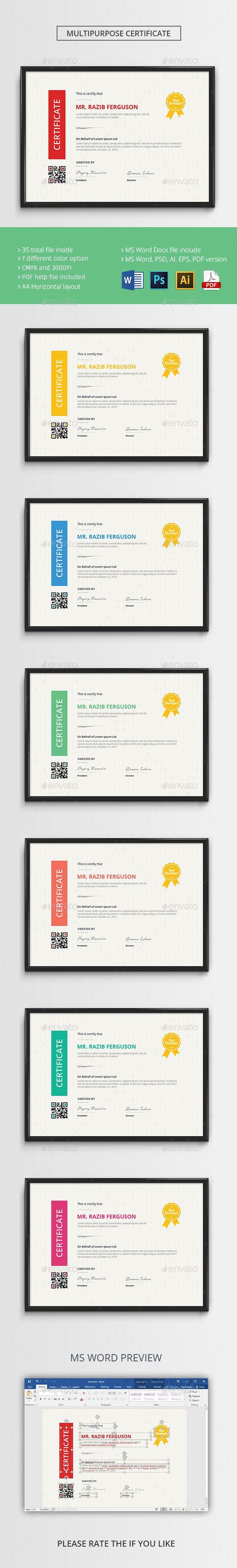 161 best certificate template design images on pinterest