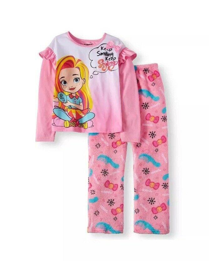 New Girls Princess License 2 Piece Pajama Set Sleepwear SZ 4//5 6//6X 7//8 10//12