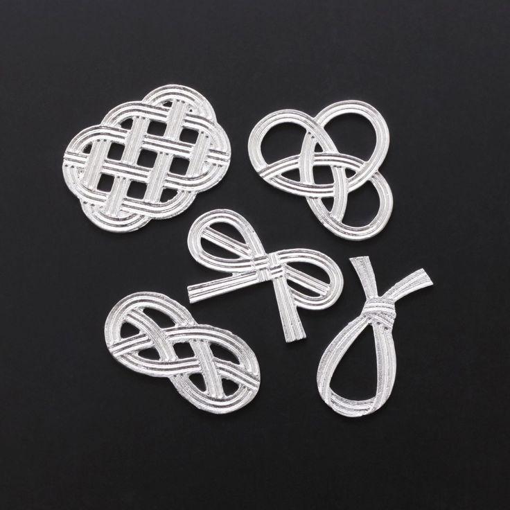 能作/錫の箸置き「結び」 桐箱入5点セット 5250yen 縁起の良い「結び」をモチーフにした錫の箸置き