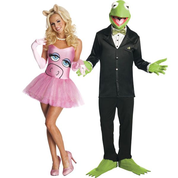 Kermit and Miss Piggy: Be sure to smother Kermit with kisses all night long while you're in character as Miss Piggy.