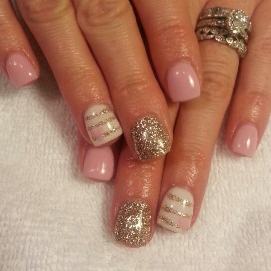 Client brought this idea in, unsure the artist to give credit to. Super cute gel valentines day nails by etta