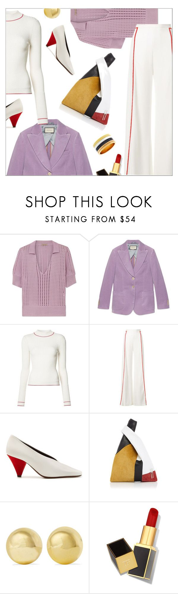 """LAVENDER TOUCH"" by laste-co ❤ liked on Polyvore featuring Bottega Veneta, Gucci, Misha Nonoo, Galvan, Neous, Amaranta, Kenneth Jay Lane, Tom Ford and Boucheron"