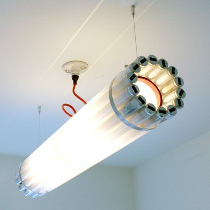 Recycled Tube Light - Small - Chandelier - LIGHTING