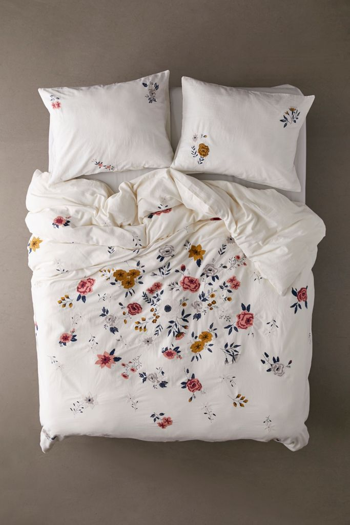 Blossom Embroidered Duvet Cover Embroidered Duvet Cover Duvet Covers Urban Outfitters Duvet Covers