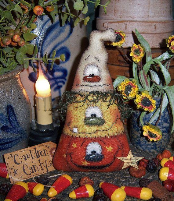 Patti's Ratties Primitive Halloween Pumpkin Witch by pattisratties