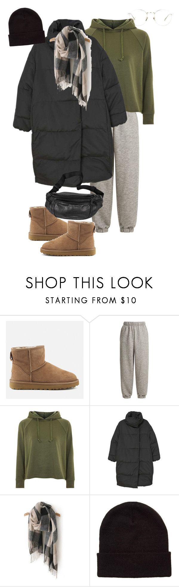 """01.03.2018"" by klorikon00 ❤ liked on Polyvore featuring UGG, Raey, Topshop, MANGO, ASOS and Linda Farrow"