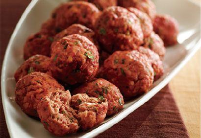 Boulettes de saumon tandoori, raita au concombre (en francais)