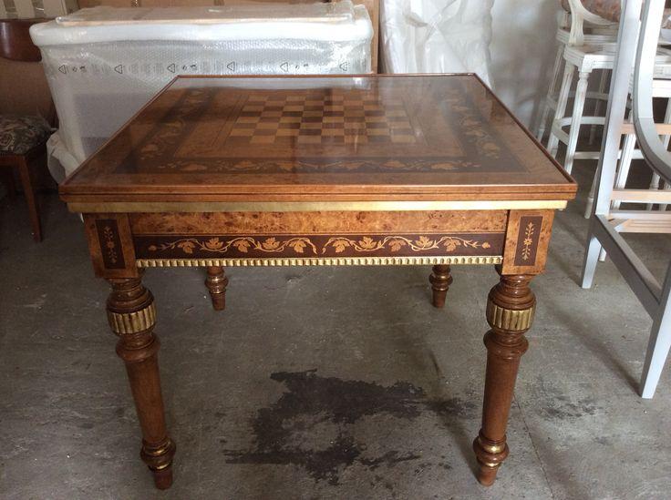 Tavolo roulette da giorno intarsiato vero legno