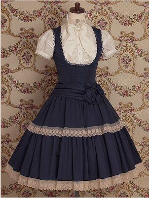 looks like a little lolita school uniform :)