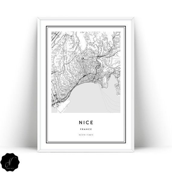 Map Of Nice Wall Art Prints
