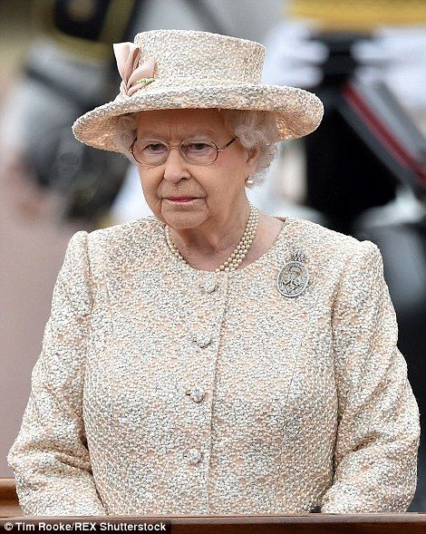 Queen Elizabeth II - The Royal family assembled in central London today, 13th June 2015, for the Trooping of the Colour to mark the Queen's official birthday.