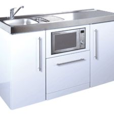 Premium 1500 White with dishwasher and combination microwave oven
