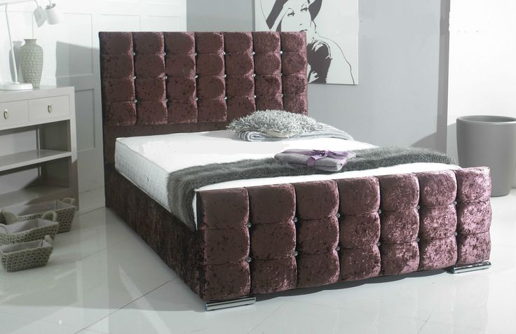 rio Crushed Velvet Bedstead | COMFORT DIRECTION
