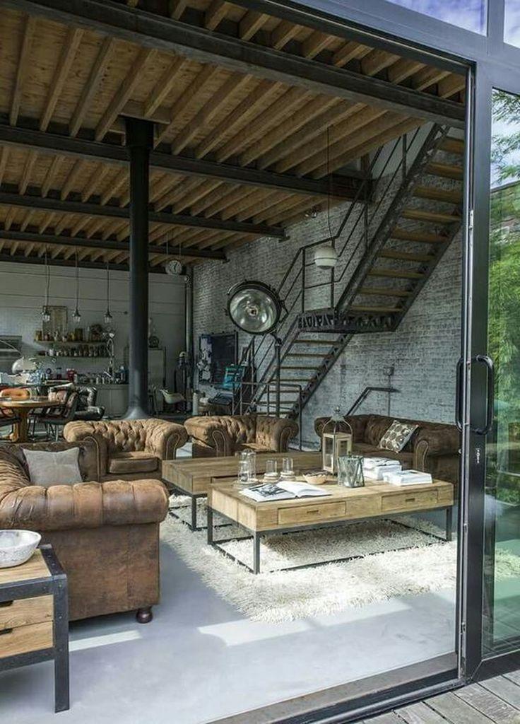 25 Amazing Interior Design Ideas For Modern Loft Godiygo Com Industrial Loft Design Industrial Home Design Modern Loft