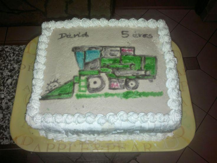 Gasztro blog: Kézzel festett Traktor torta