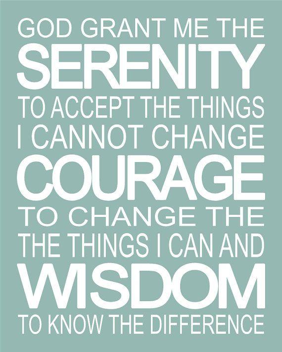 Serenity Prayer Inspirational Spiritual Subway by 7WondersDesign
