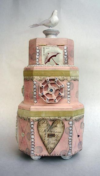 mixed media cakeBella Mixed, Media Collage Recycle, Wooden Cake, Cake Neat Ideas, Object Cake, Mixed Media Art, Pretty, Medium, Media Cake Neat