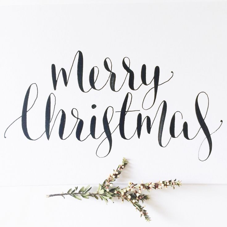 Merry Christmas calligraphy www.willowandink.com.au