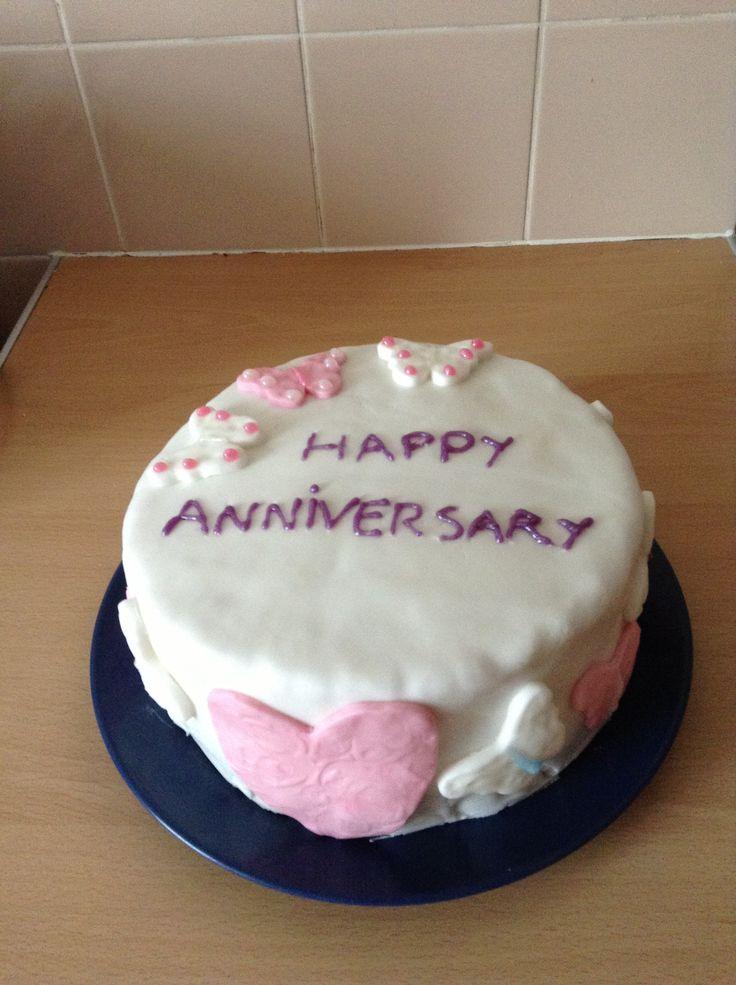 My nannas anniversary cake what I made.