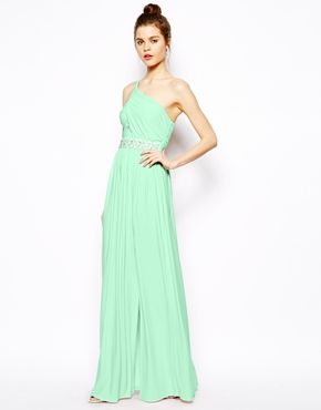 e654eecedd2 Embellished Maxi Dress With One Shoulder