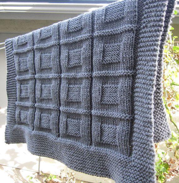 Manta del knit del bebé tiro manta del regazo color gris