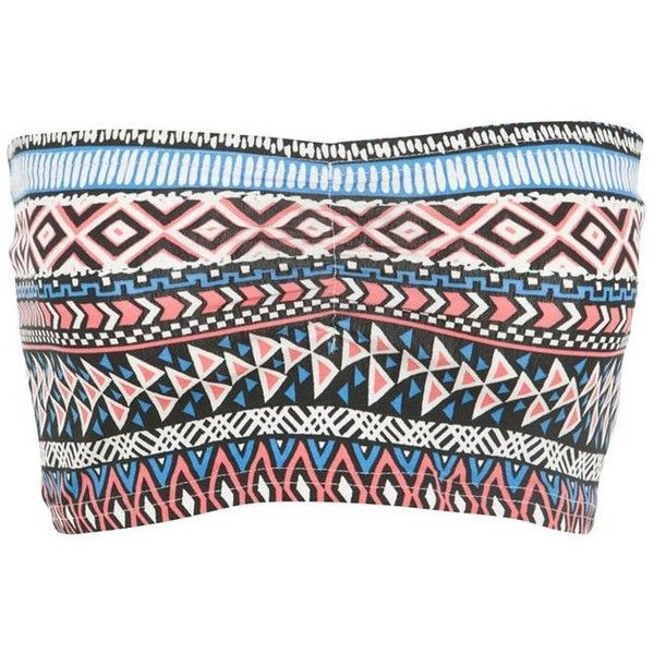 Blue Aztec Print Bandeau ($6.12)- not my usual pattern but i'd love this under a tank top