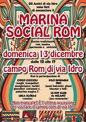 DIRITTI E CULTURA DI ROM E SINTI: 13/12 MARINA SOCIAL ROM
