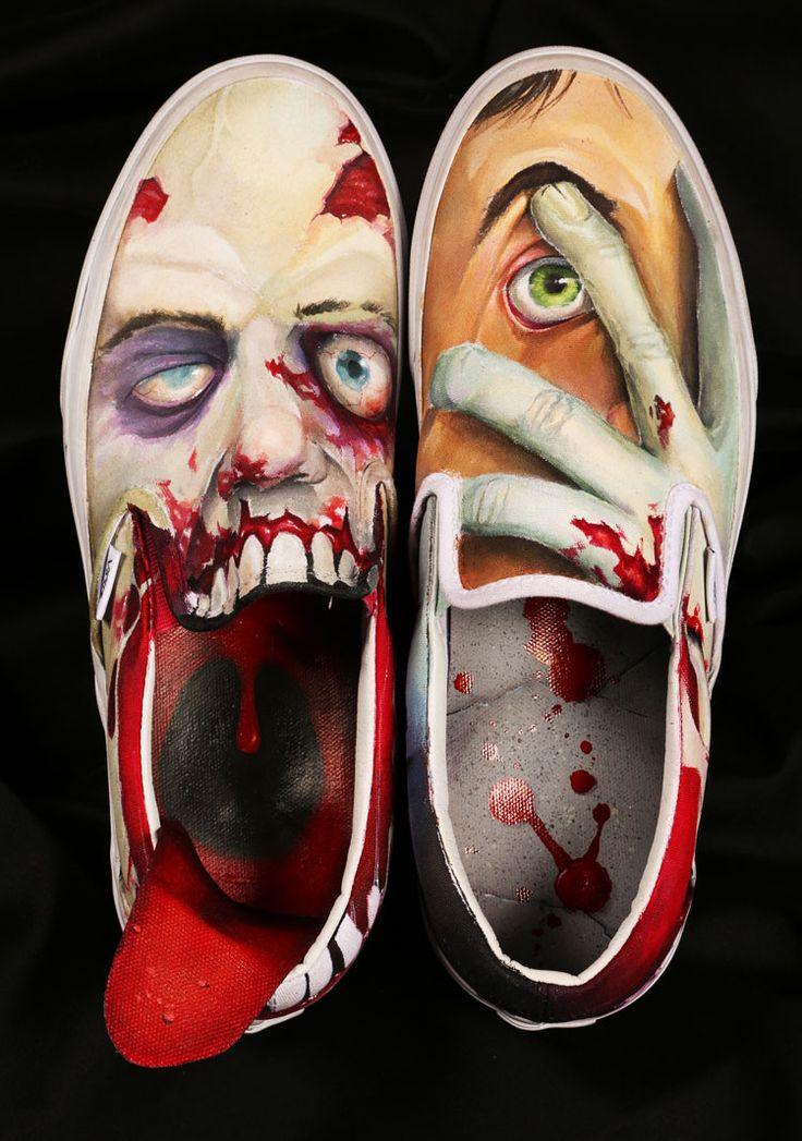 Vans Custom Culture Zombie Shoe by Tucson Magnet High School