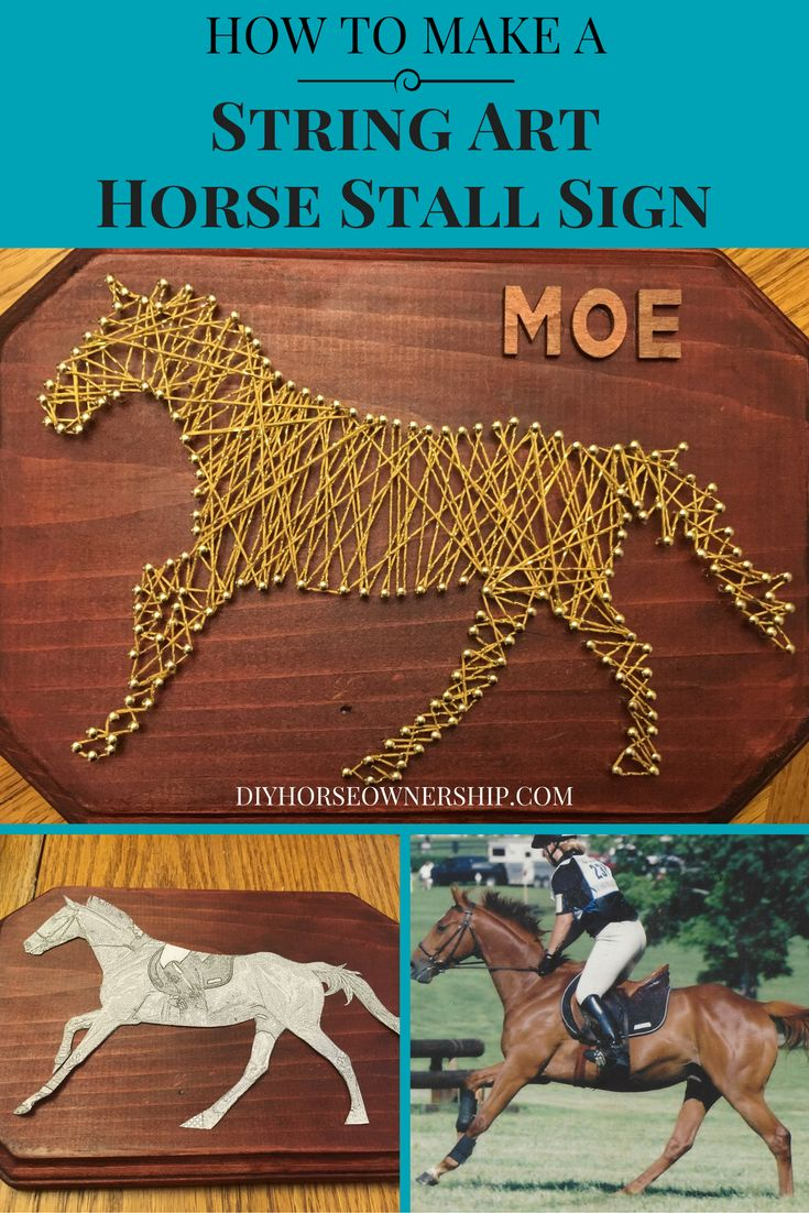 DIY: How to Make a String Art Horse Stall Sign