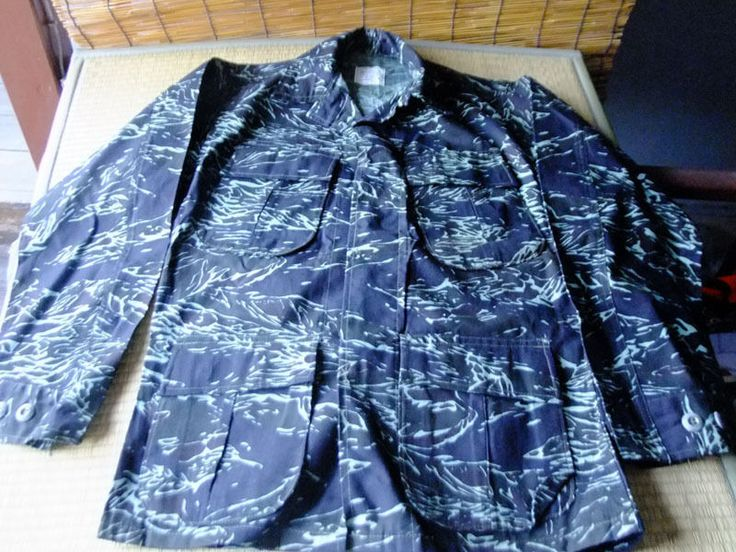 "Vietnam War Royal Thai Army ""Shadow tiger"" Tiger Stripe Camo Shirt Small MINT #Unforms"