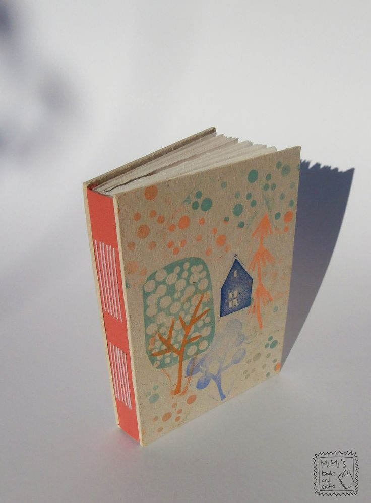 hand printed long stiched book