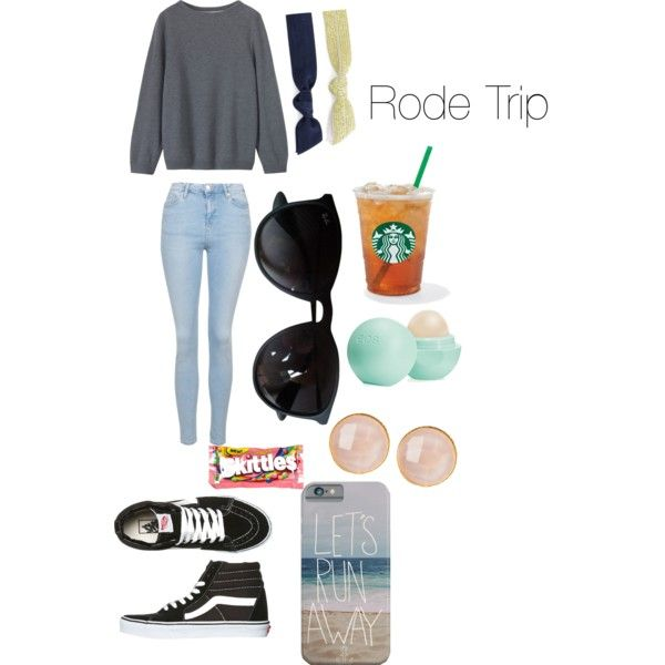 Rode Trip by anna-mae-equils on Polyvore featuring polyvore, fashion, style, Topshop, Vans, Saachi, Ray-Ban, Splendid, Eos and River Island