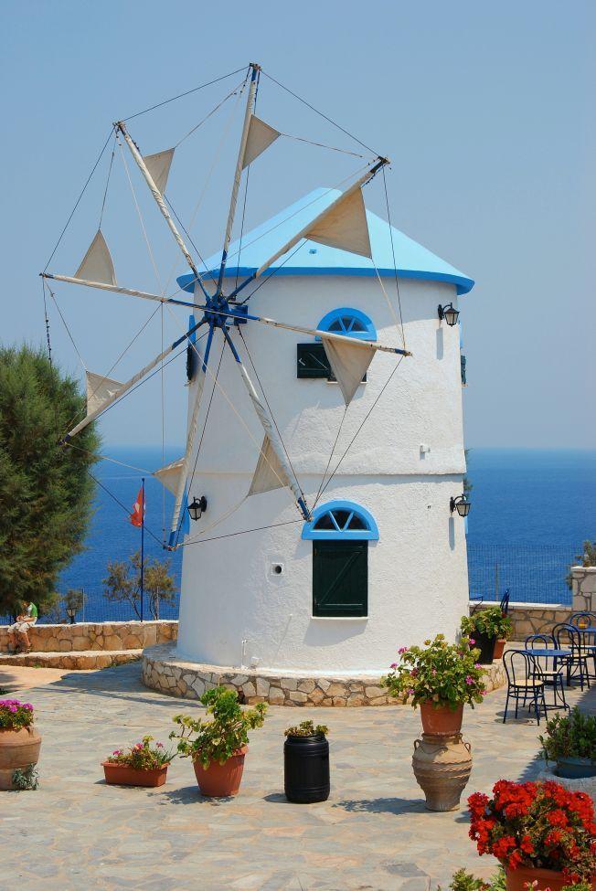 A windmill in Zakynthos Island -Greece