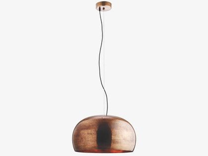 MARTEAU Large copper coated brass ceiling light